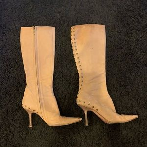 jimmy choo tan suede boots